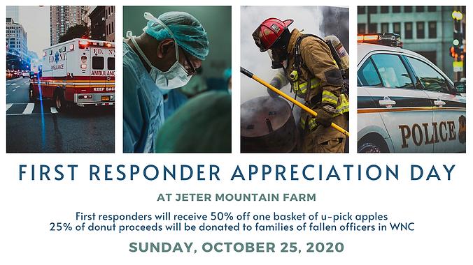 First Responder Appreciation Weekend