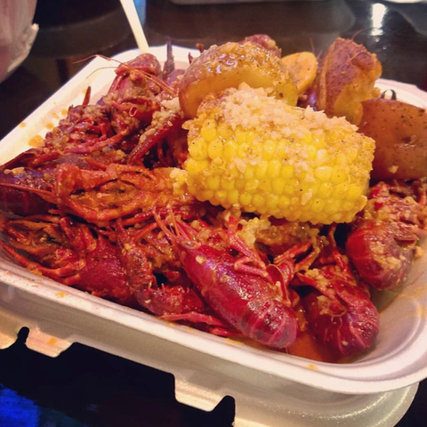 Crawfish Seafood Platter