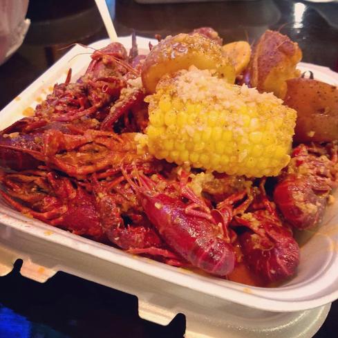 Crawfish Seafood Platter