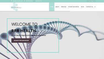 RRR Health Website designed by Orlando Medical Marketing