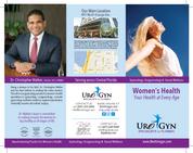 Orlando Medical Marketing Urogyn Specialists Brochure