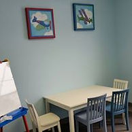 Speech therapy room.