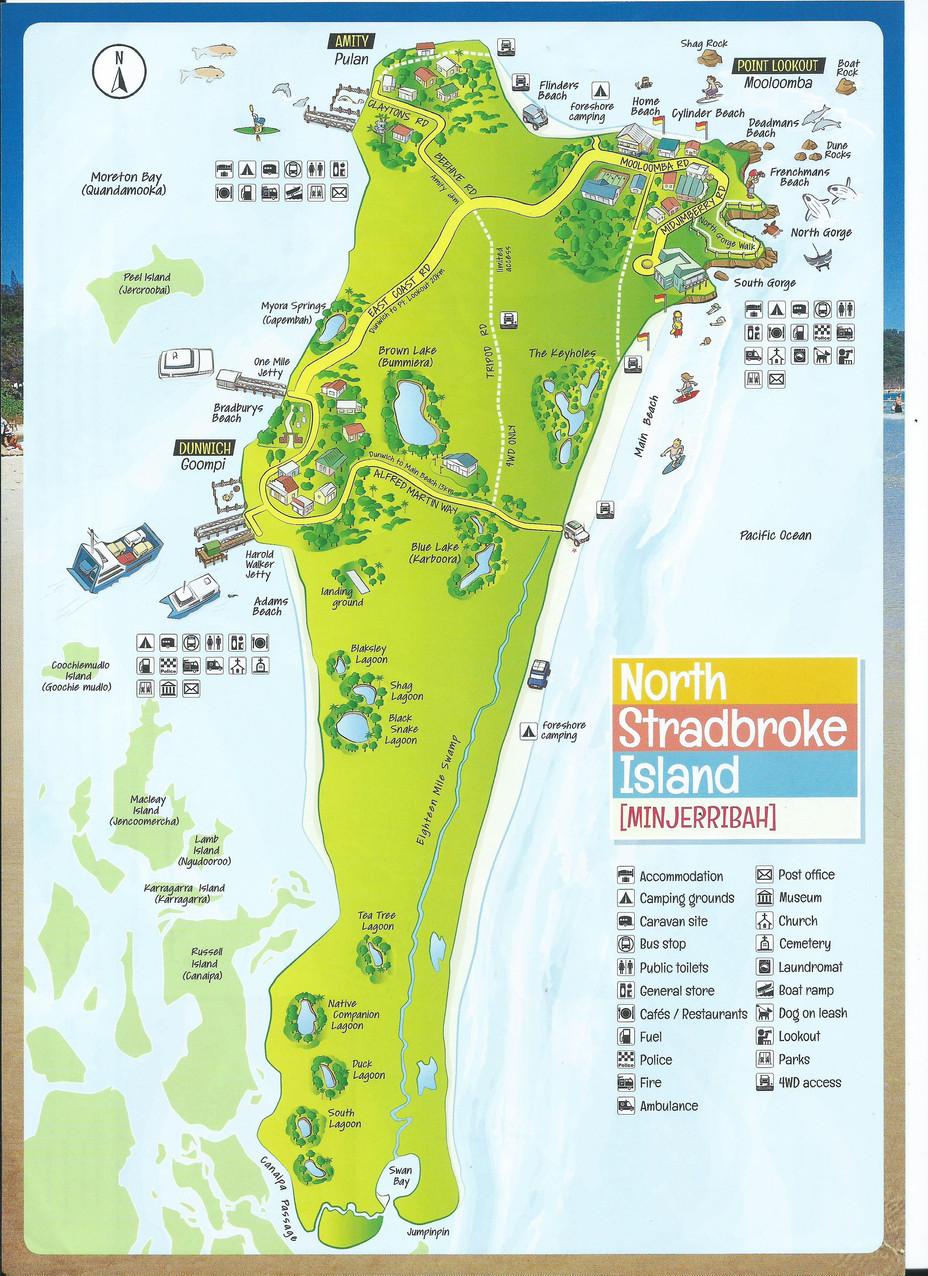 National-Seniors-Redcliffe-Map of North Stradbroke Island