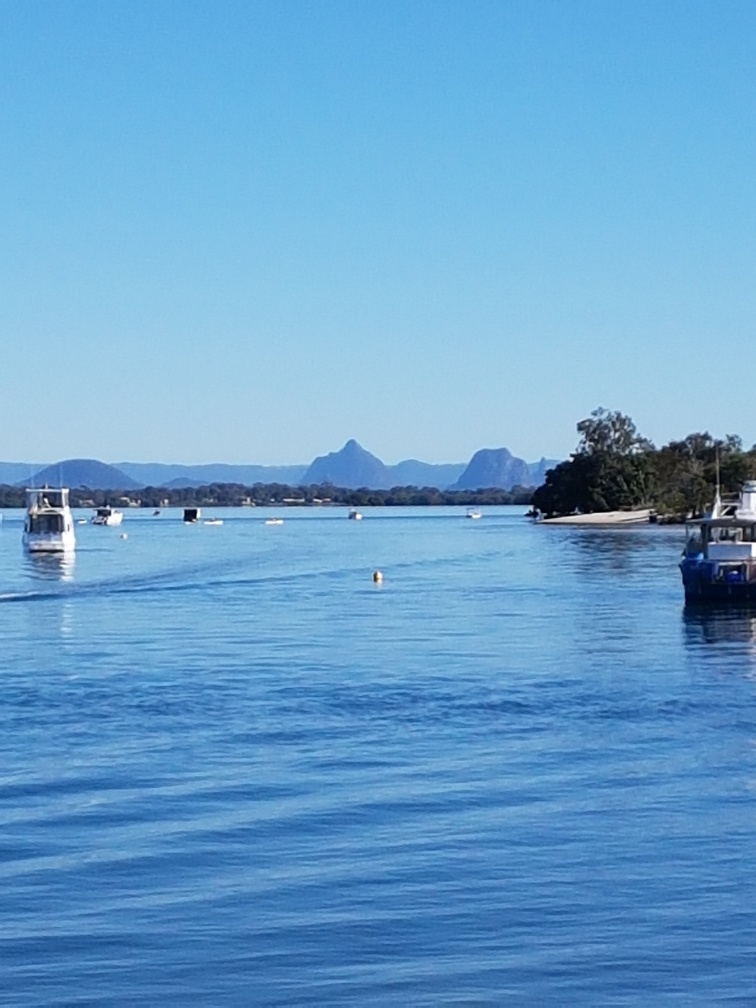 National-Seniors-Redcliffe-View Glasshouse Mountains from Bribie