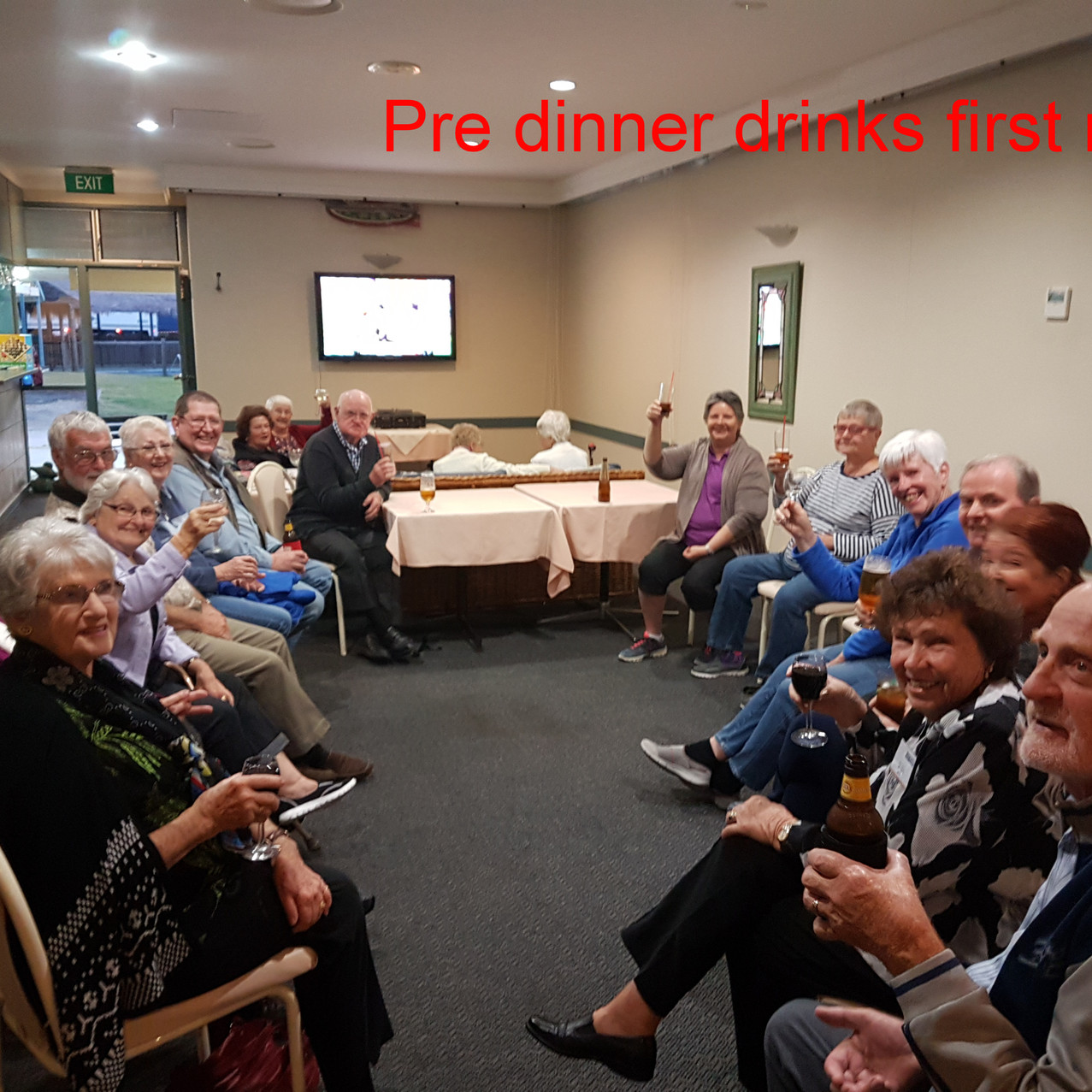 National-Seniors-Redcliffe-pre diner drinks