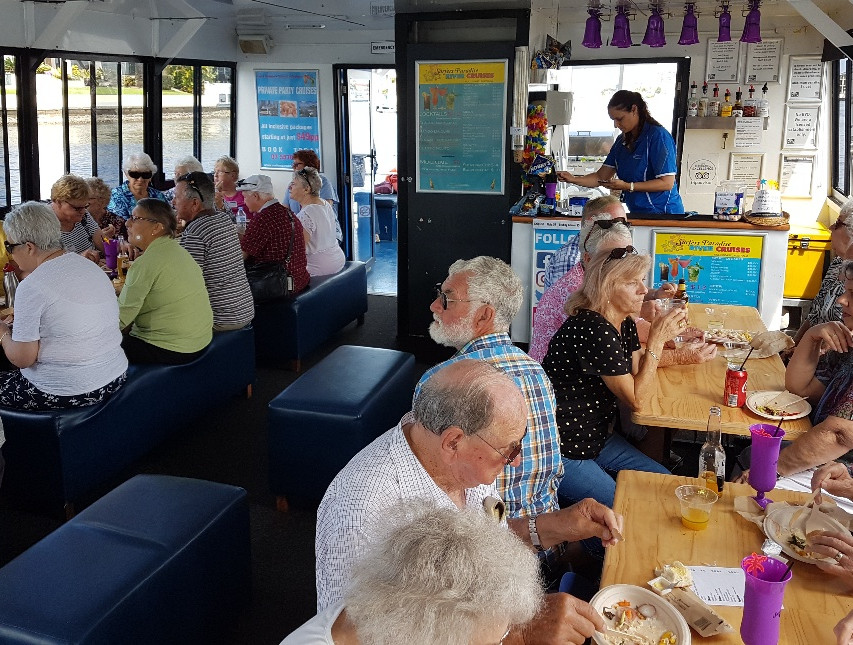 National-Seniors-Redcliffe-Lunch on boar