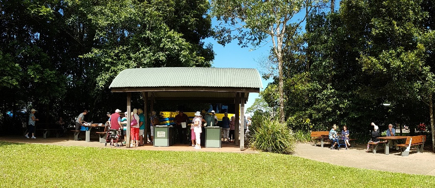 Morning tea at Mary Cairncross Reserve
