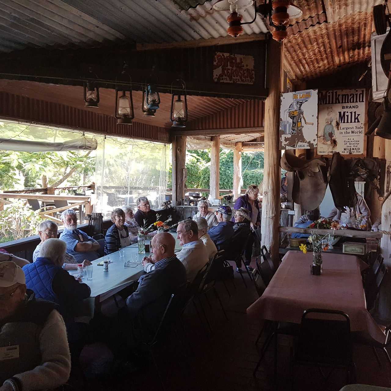 National-Seniors-Redcliffe-Enjoying lunch in The Barn