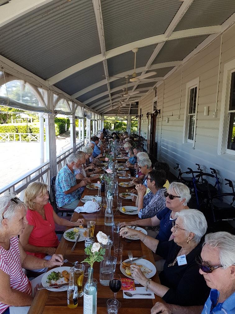 National-Seniors-Redcliffe-Lunch on the veranda