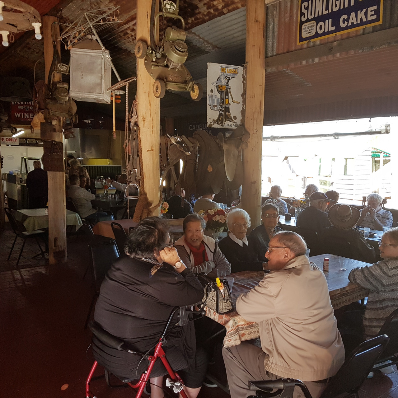 National-Seniors-Redcliffe-Enjoying lunch in The Barn1