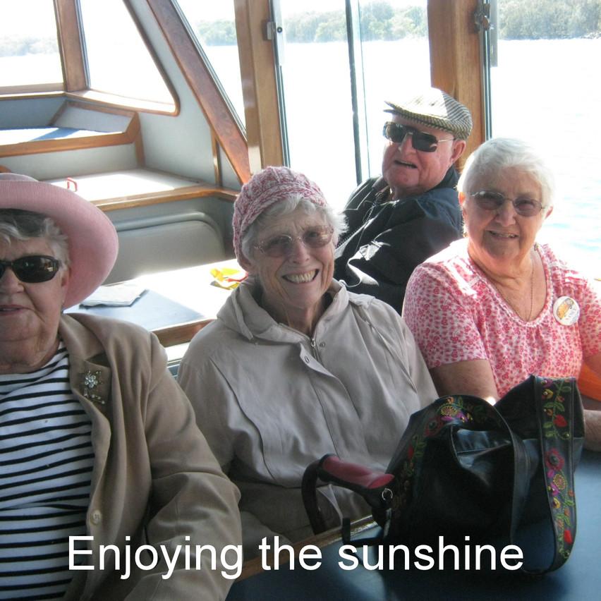 National-Seniors-Redcliffe-enjoying the sunshine