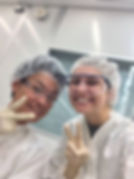 Kanta and Bobi in the clean room