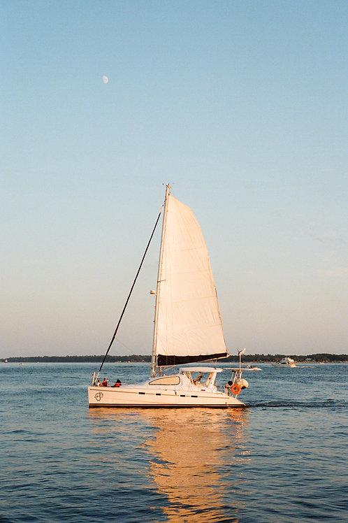 8x10 Print Sunset Sailboat