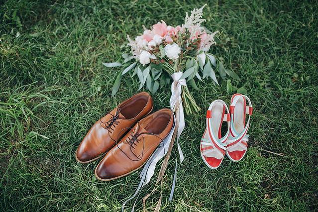 Zapatos de boda d hombre y mujer