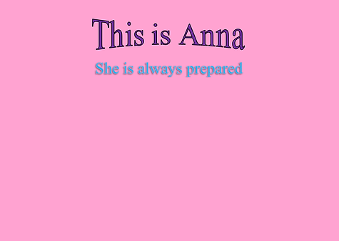 Description of Anna the sixth grader who hopes to be a biologist like her mama in the Johan Adventure Series.