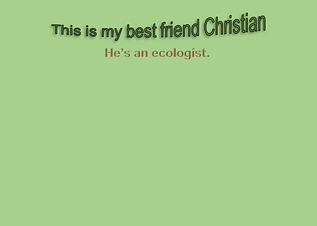 "Description of Christian the 12 year old ecologist from the "" Johan's Adventure Series."""