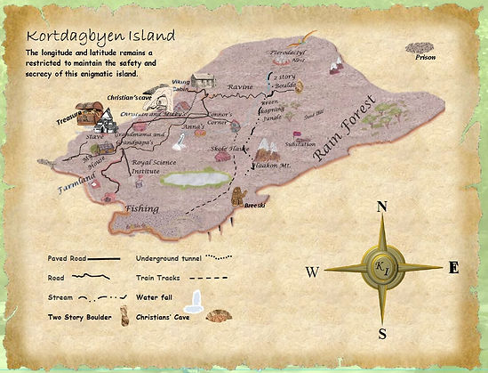 Map for website with rose and roads adju