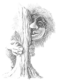 "Troll from Kortdagbyen Island in ""Johan And The Secret Caves"" by Bonnie Solino"