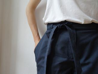 Paper Bag Waist Blue Pant