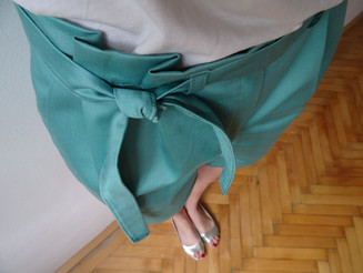 Paper Bag Waist Short (bleu céladon)