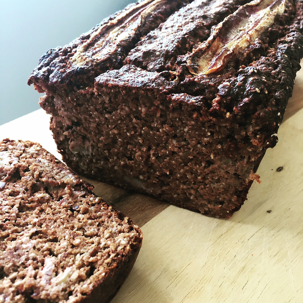 Nutrient-dense chocolate banana bread