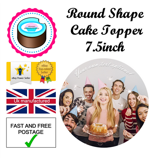 7.5inch Round Cake Topper Quality icing sheet