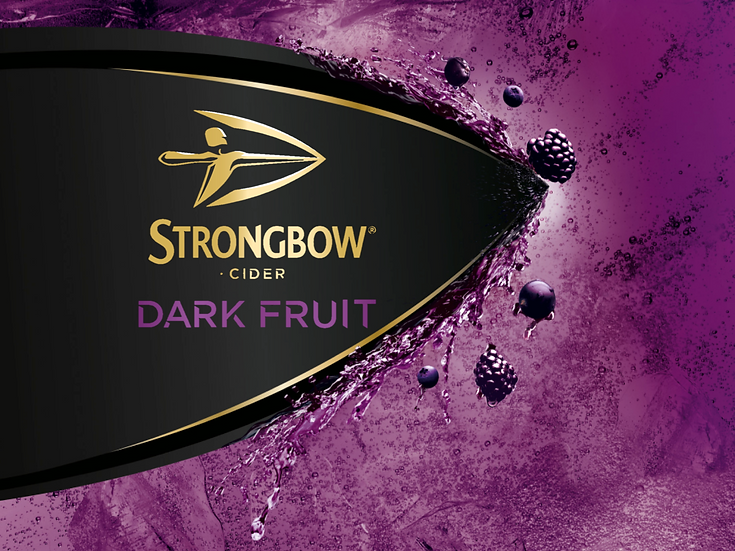 StrongBow Dark Fruit Multipack Edible image label Quality icing sheet