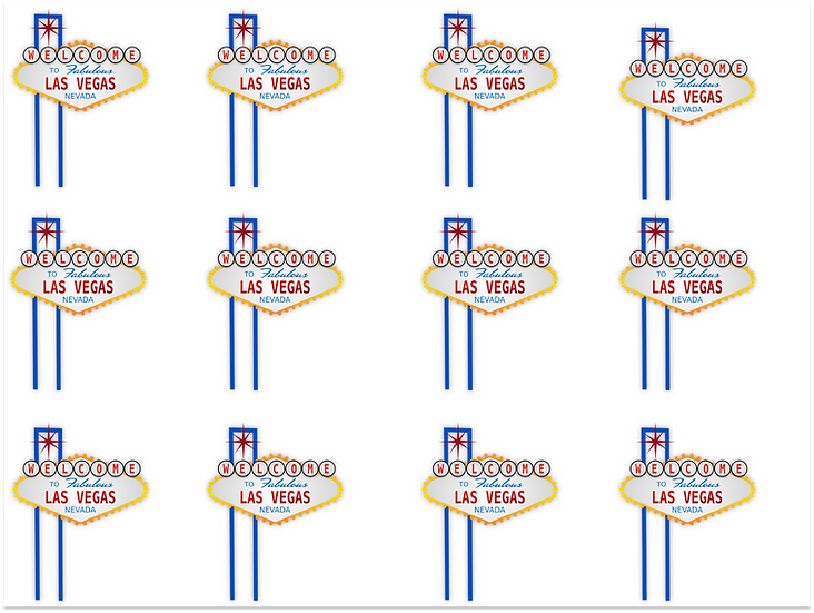 Wafer edible image las Vegas stand up cupcake topper wafer card
