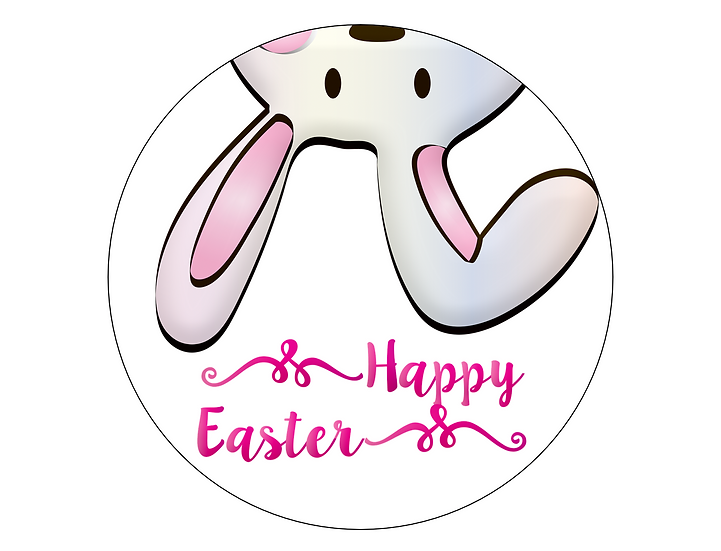 copy of copy of copy of EASTER 7.5'' ROUND edible image cake topper Quality icin