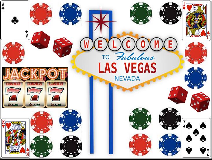 Las Vegas Edible image sheet set Quality icing sheet