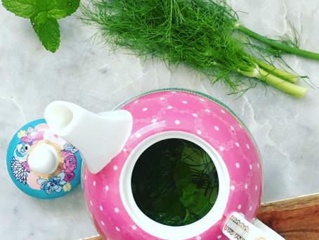 Fresh Mint & Fennel Frond Tea