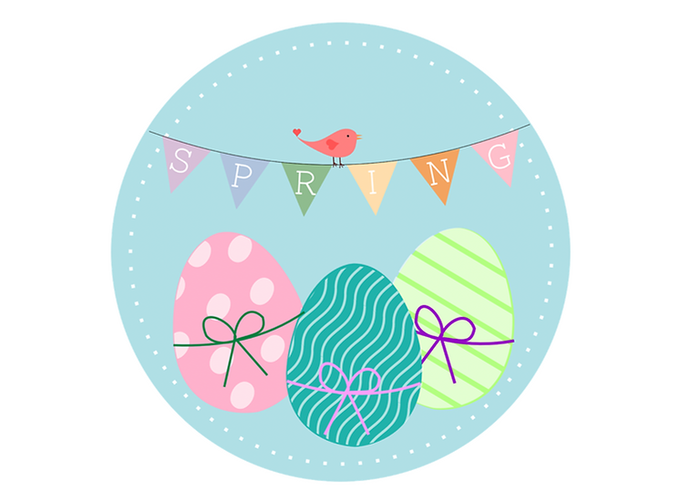 copy of copy of EASTER 7.5'' ROUND edible image cake topper Quality icing sheet