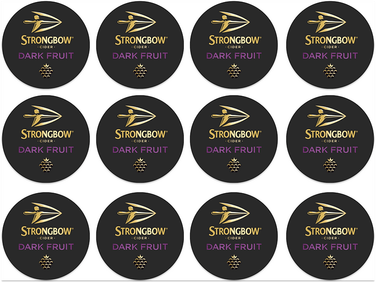Edible Image Strongbow dark fruits cupcakes toppers Quality icing sheet