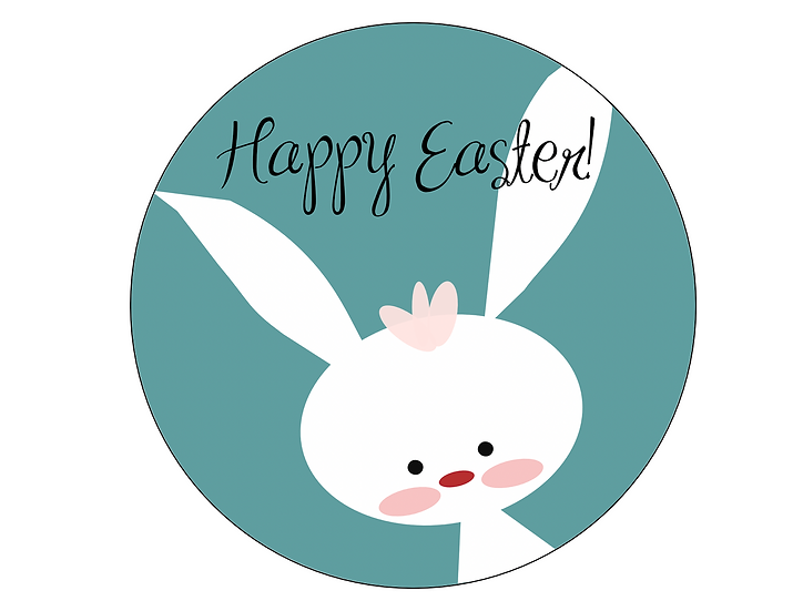 EASTER 7.5'' ROUND edible image cake topper Quality icing sheet