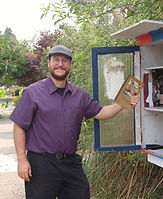 GVPN 5000th book and Teale Phelps Bondaroff Little Free Library