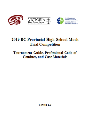 2019 BC Provincial High School Mock Trial Competition - Inviation