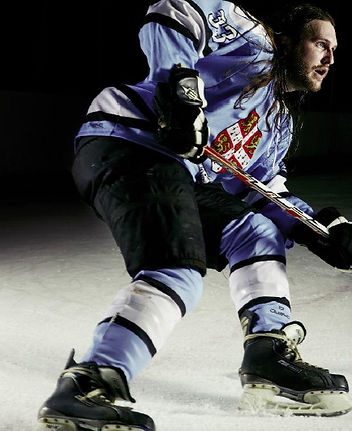 Teale Phelps Bondaroff played defense for the Cambridge University Ice Hockey Club while a studen there, and also coached the women's team.