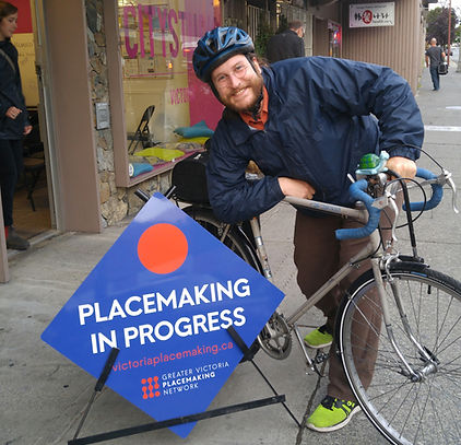 Teale Phelps Bondaroff is a volunteer member of the board of the Greater Victori Placemaking Network