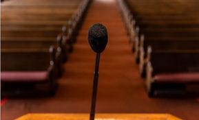 Podium and Microphone.JPG