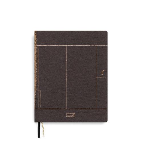 Linen notebook A5+ Chocolate (5pcs)