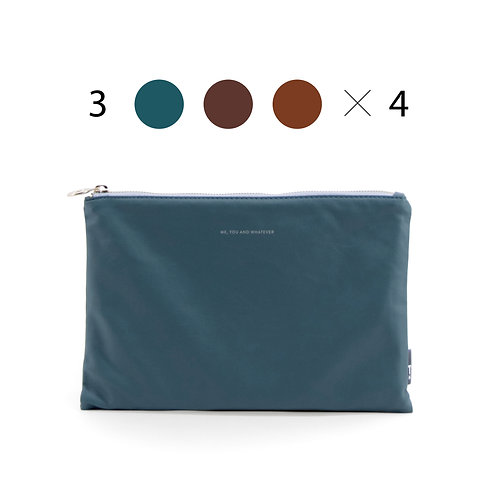 Feel Good Pouch XL (6pcs) Petrol, Light and Dark Brown