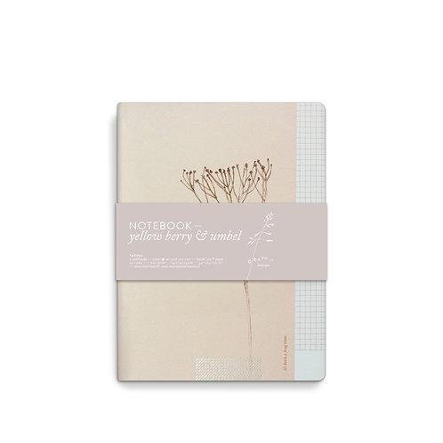 Set 2 Notebooks Graphic Botanique - Umbel and Yellow Berry (5pcs)