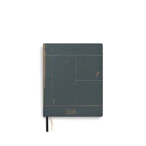 Linen notebook A6+ Forrest Green (5pcs)