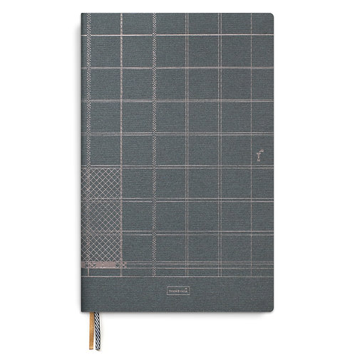 Linen notebook A4 Indigo - (5 pcs)