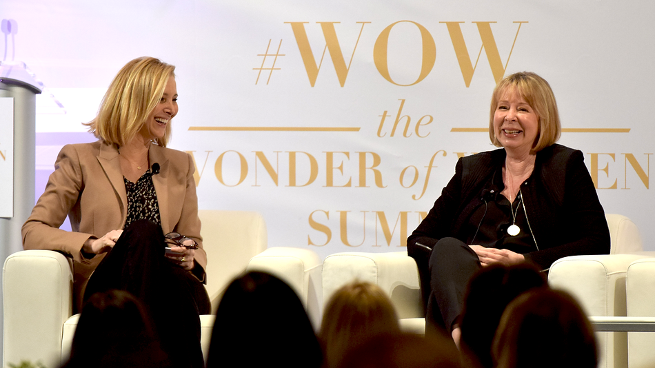 Lisa Kudrow and Diane English, Wonder of Women Summit, UCLA 2018