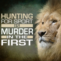Hunting for Sport is...