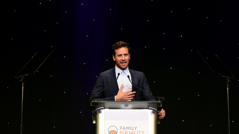 Armie Hammer, Family Equality Council Impact Awards, Universal Studios Globe Theatre 2018