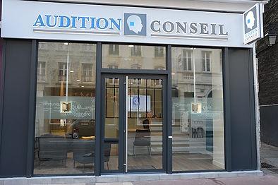 Vitrine Audition Conseil dans le centre de Cherbourg