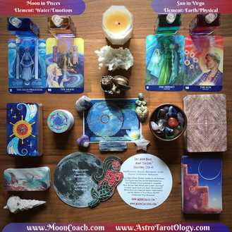 MoonCoaching™ AstroTarotOlogy™ :  Pick-A-Card for Pisces/Virgo Full Moon!