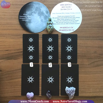 MoonCoaching™ AstroTarotOlogy™ :  Pick-A-Card for Aquarius Gibbous Moon Phase in the Virgo New Moont